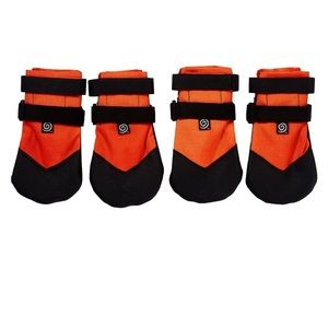 Ultra Paws Rugged Dog Boots, 4 count, Orange Large